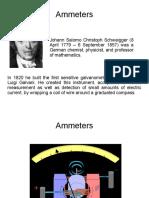 History Ammeters Voltmeters