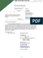 Complaint - Malik v City of New York Et Al (NY Supreme 153118-2016 Filed 2016.04.12)