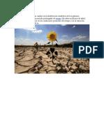El Cambio Climático Es Un Cambio en La Distribución Estadística de Los Patrones Meteorológicos Durante Un Periodo Prolongado de Tiempo