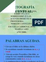 Ortografía Acentual.