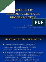 Capitulo IV Introducción a La Programación