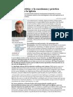 Card. Burke «Amoris Laetitia» y La Enseñanza y Práctica Constante de La Iglesia