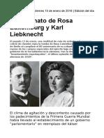 El Asesinato de Rosa Luxemburg y Karl Liebknecht