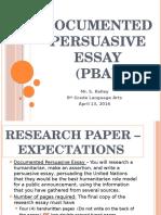pba - documented persuasive research essay 2015-2016