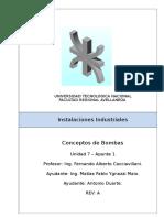 Instalaciones Industriales - U7-A1 - Conceptos de Bombas