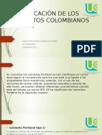 Clasificación de Los Cementos Colombianos