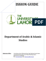 Adm.guide Islamic Studies