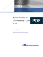 Microsoft Dynamics AX 2009 Lean Ordering Cumulative