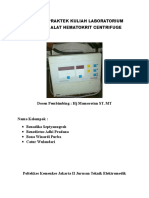Laporan Praktek Kuliah Laboratorium Lanjut Alat Hematokrit Centrifuge