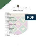 Dissertation Outline