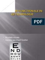 Explorari Functionale in Oftalmologie