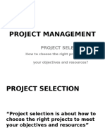 Project Management _ Project Selection