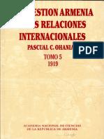 Pacual C Ohanian - La Cuestión Armenia y Las Relaciones Internacionales 5 (1919)