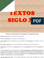 TEXTOS SIGLO XX