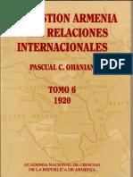 Pacual C Ohanian - La Cuestión Armenia y Las Relaciones Internacionales 6 (1920)
