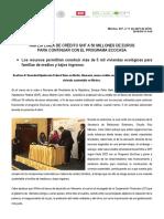 11 - 04 - 16 SHF amplía línea de crédito con KFW para EcoCasa