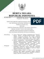 PERMEN KEMENPANRB Nomor 25 Tahun 2014 (Kemenpan Rb No 25 Th 2014)