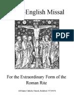 Latin English Missal