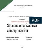 Structura Organizatorica a Intreprinderii Stanculete