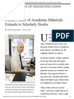 Online Piracy of Academic Materials Extends to Scholarly Books - The Chronicle of Higher Education