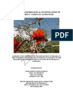 CHEMICAL AND BIOLOGICAL INVESTIGATION OF ERYTHRINA VARIEGATA (FABACEAE)