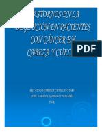 Trastornos en La Deglucion en Pacientes Con Cancer en Cabeza y Cuello
