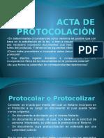 Acta de Protocolaciòn