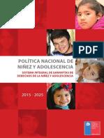 política nacional de infancia y adolescencia 2015-2025