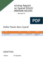 Morning Report Syaraf