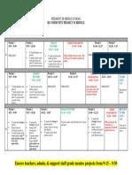 IB Showcase Schedule