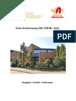 Brochure Oude Arnhemseweg 359 te Zeist