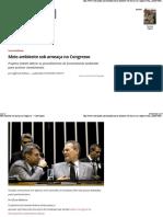 Meio Ambiente Sob Ameaça No Congresso — CartaCapital