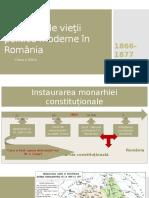 Începuturile vieţii politice moderne în România