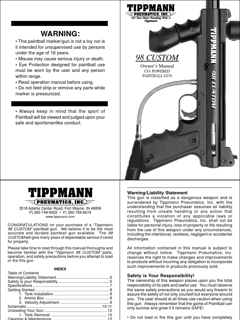 Miraculous Tippmann 98 Custom Model 98 E Bolt Manual Pdf Tippmann Circuit Wiring Database Wedabyuccorg