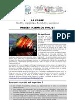 La FORGE de Marseille Provence 2013 - Fiche projet
