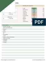 Presupuesto Fiesta Plantilla Excel