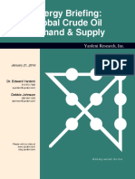 Crude Oil Demand Supply 2016 by Yardeni Globdemsup