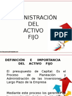 Diapositivas Administracion Del Activo Fijo