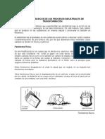 CONCEPTOS BÁSICOS DE LOS PROCESOS INDUSTRIALES DE TRANSFORMACIÓN