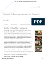 Derechos de Niñas, Niños y Adolescentes _ Comisión de Derechos Humanos Del Estado de Yucatán