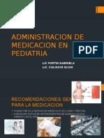 Administracion de Medicacion en Pediatria