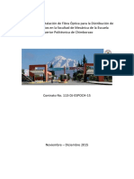 Informe de La Instalación de Fibra Óptica ESPOCH