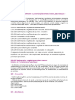 Anomalias Congenitas Na Classificacao Internacional de Doencas