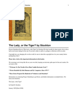 The Lady, Or the Tiger