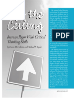 lift theceiling increasing rigor with crittical thinking skills