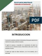 Diseño de Plantas III - Materiales de Construcción