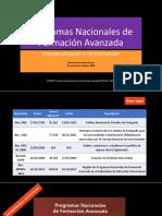 Los Programas Nacionales de Formación Avanzada v230216