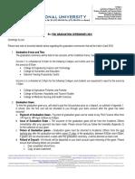 Graduation Ceremony Information Letter April 2016