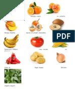 Frutas y Verduras en Poqomchi