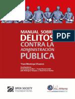 Manual Sobre Delitos Contra La Administración Pública